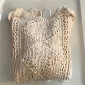 OLD NAVY Cream Cableknit Sweater